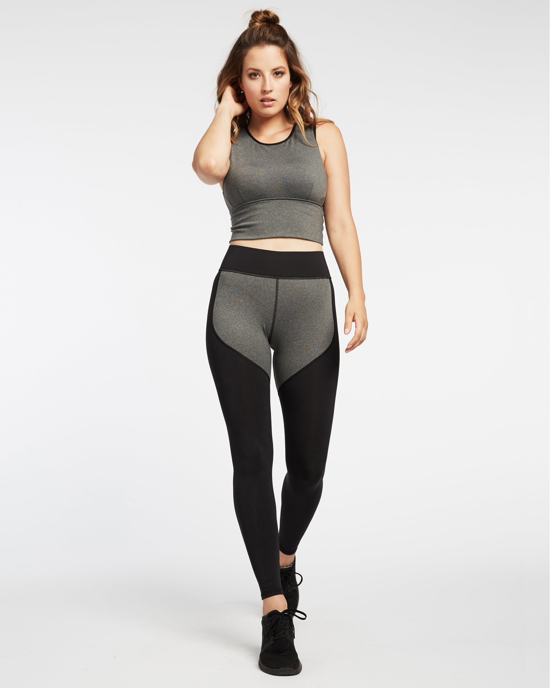Ignite Crop Top - Heather Grey