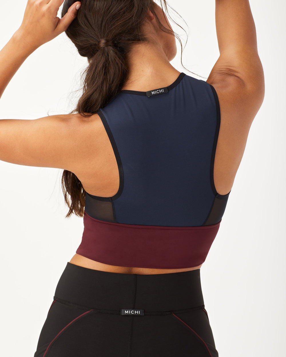 Ignite Crop Top  - Deep Sea Navy/Wine