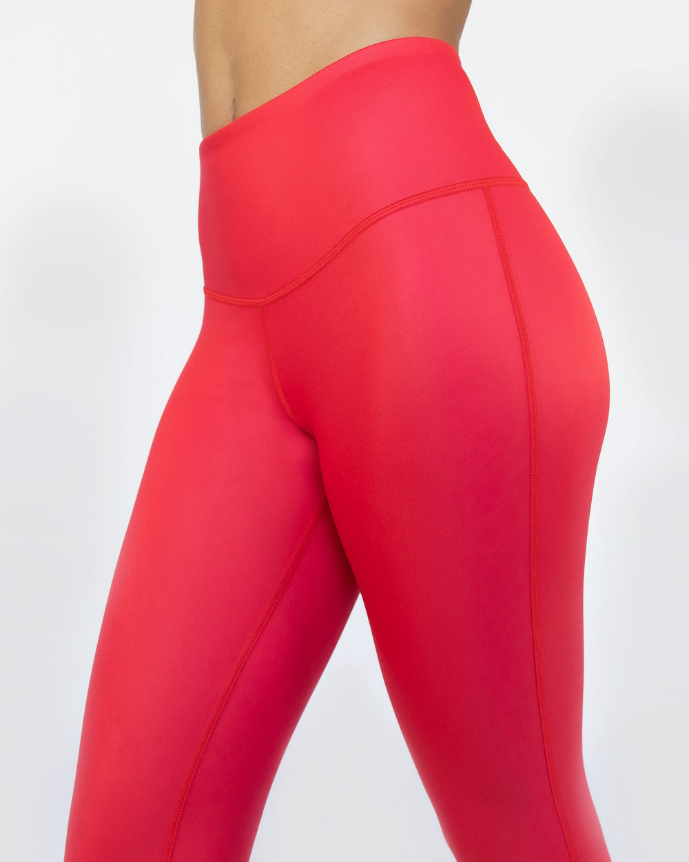 Instinct Gloss Legging - Fire Red