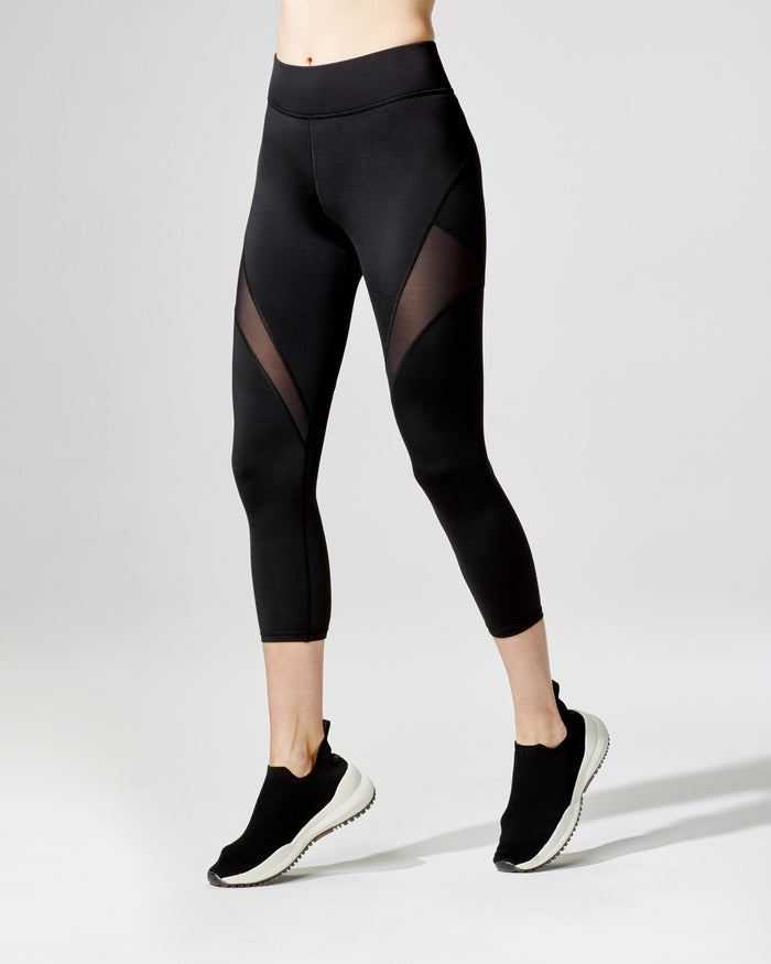 Inversion Crop Legging - Black