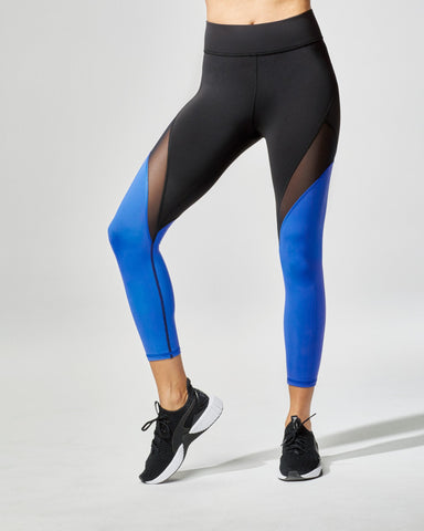 Inversion Crop Legging - Royal Blue/Black