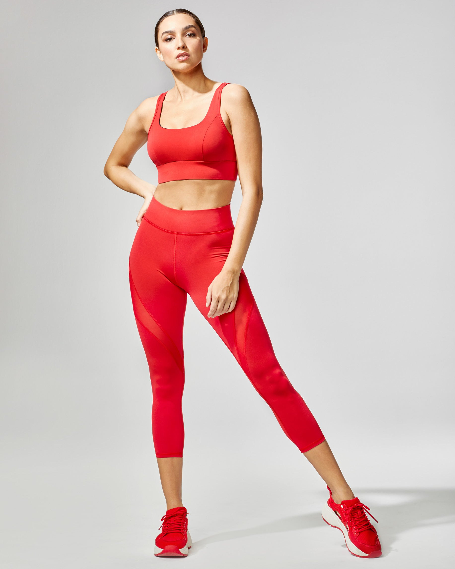 Inversion Crop Legging - Fire Red