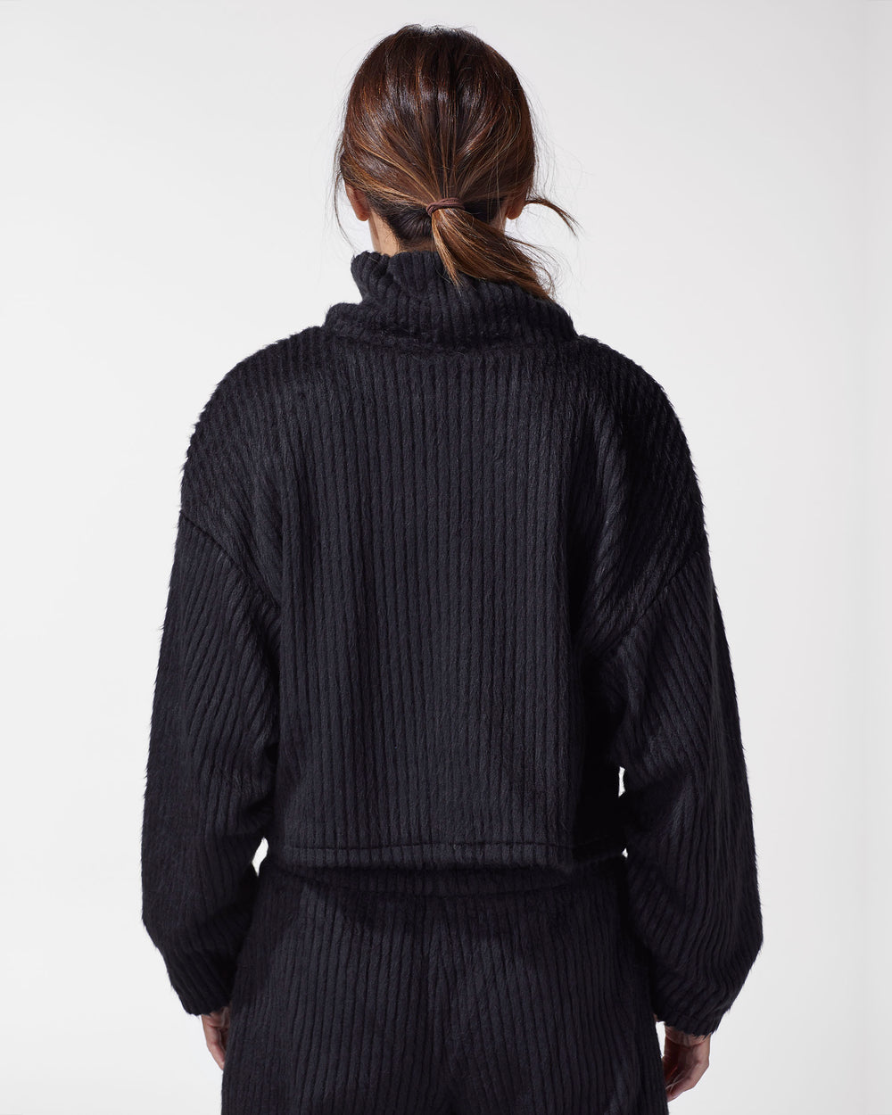 Juniper Ribbed Sweater - Black