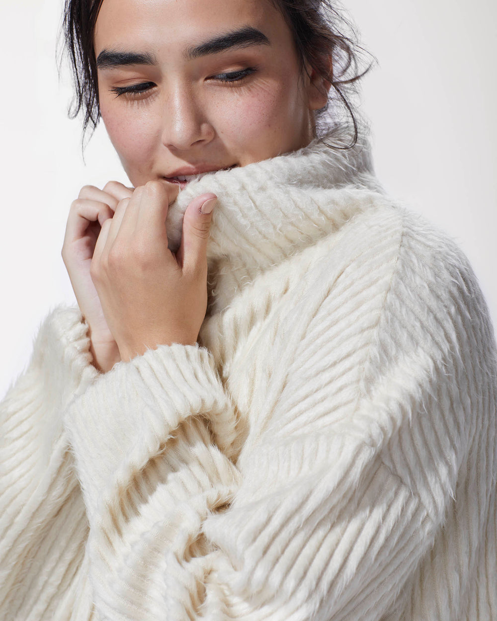 Juniper Ribbed Sweater - Ivory