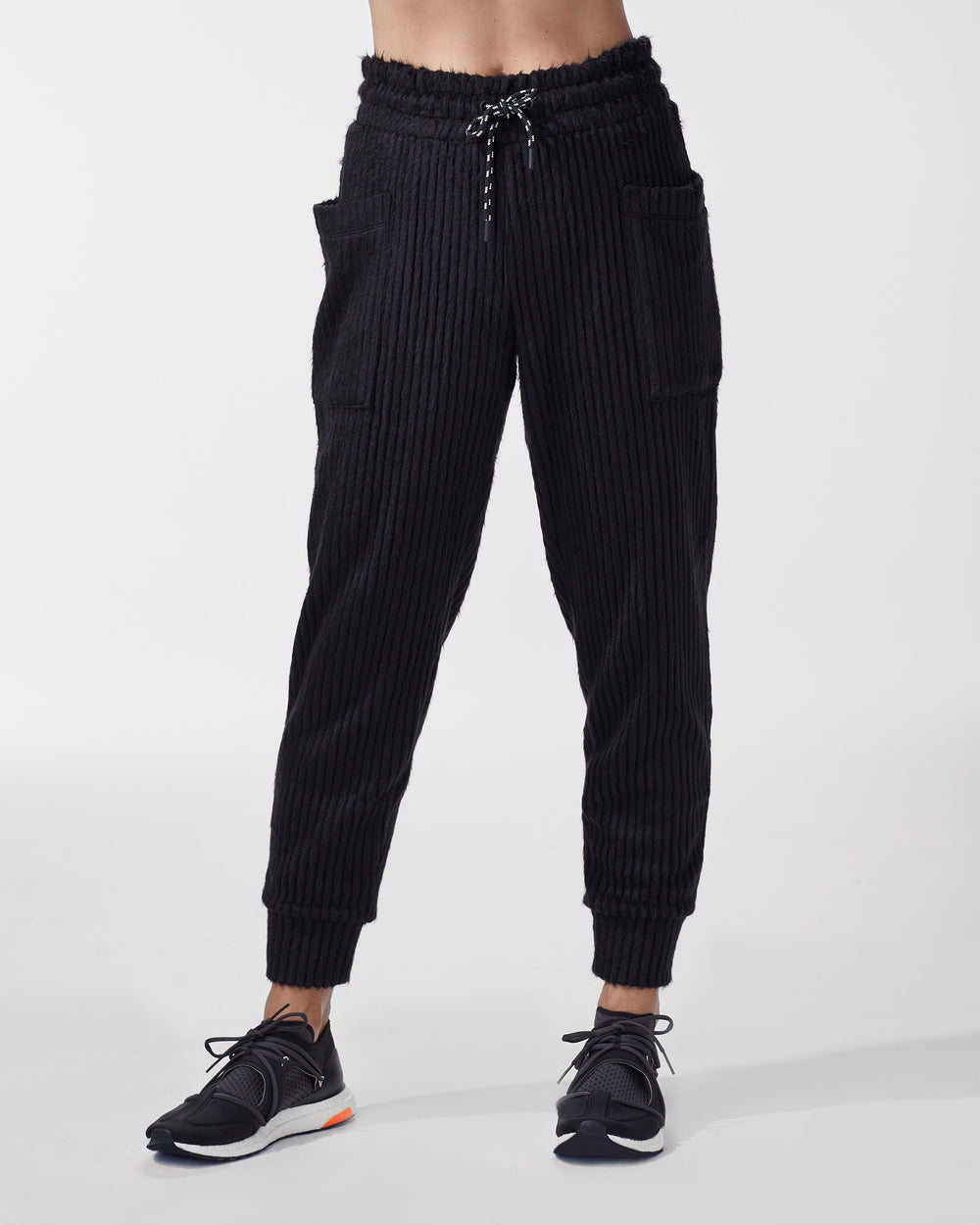 Juniper Ribbed Sweatpant - Black