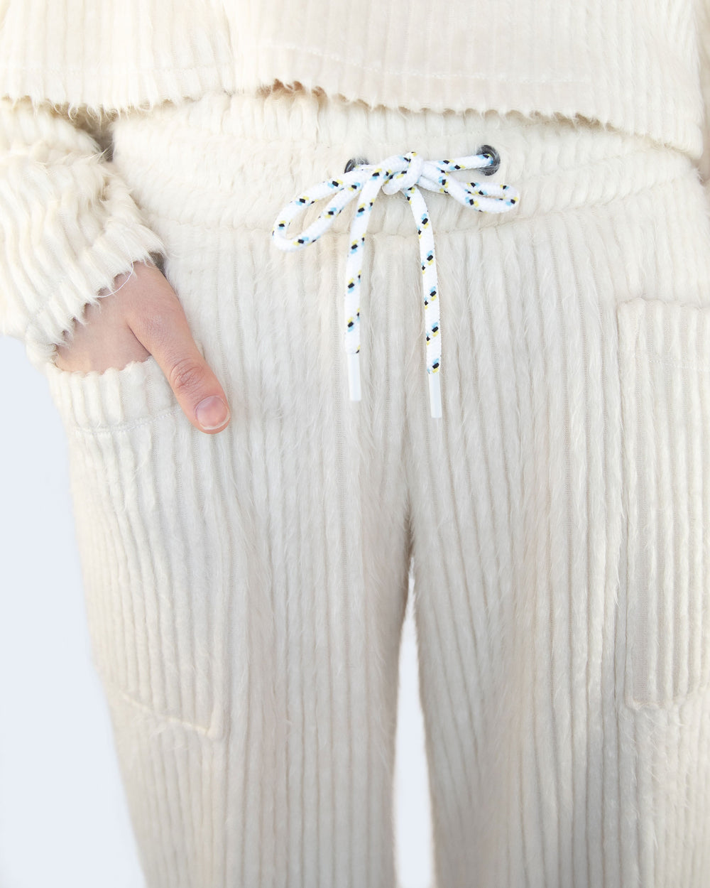 Juniper Ribbed Sweatpant - Ivory