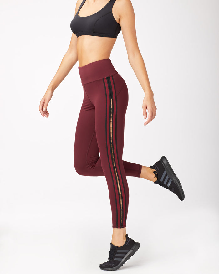 Le Mans High Waisted Legging - Wine
