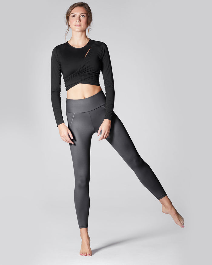Liquid High Waisted Legging - Gunmetal
