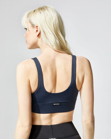 Lotus Longline Bra - Deep Sea Navy