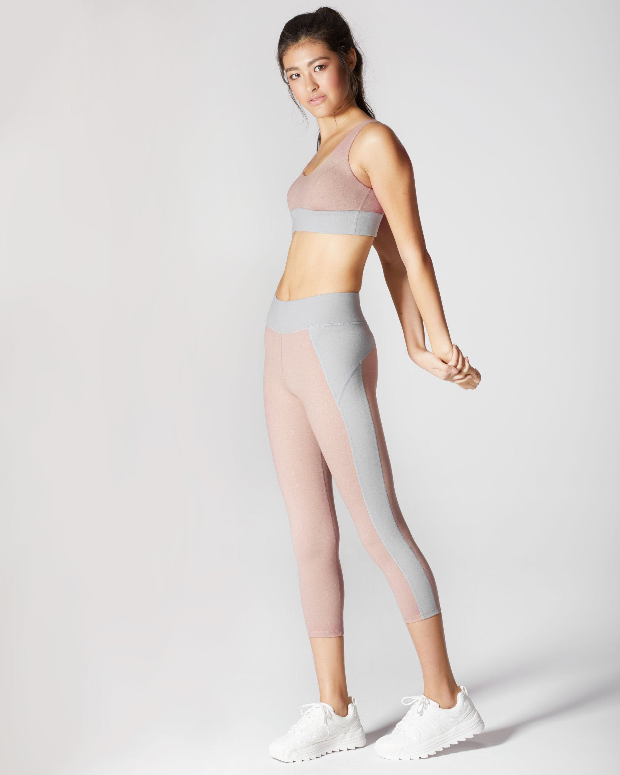 Lotus Crop Legging - Rose Quartz
