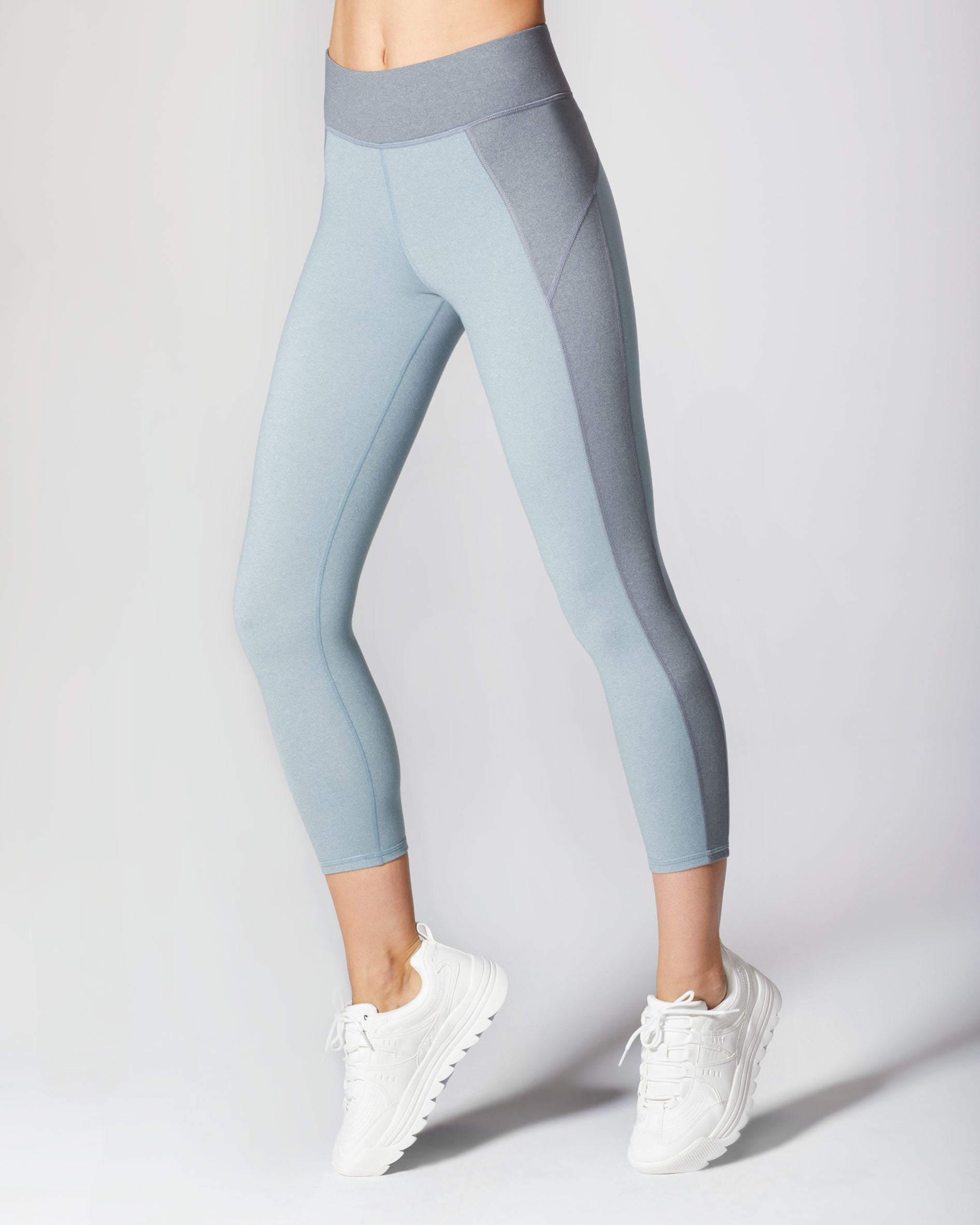 Lotus Crop Legging - Angelite Blue