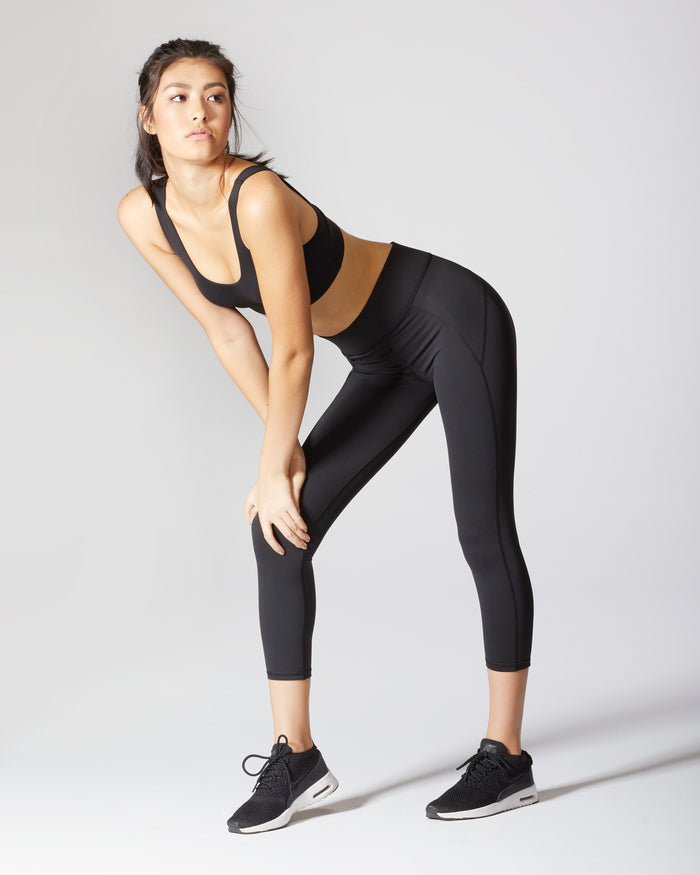 Lotus Crop Legging - Black