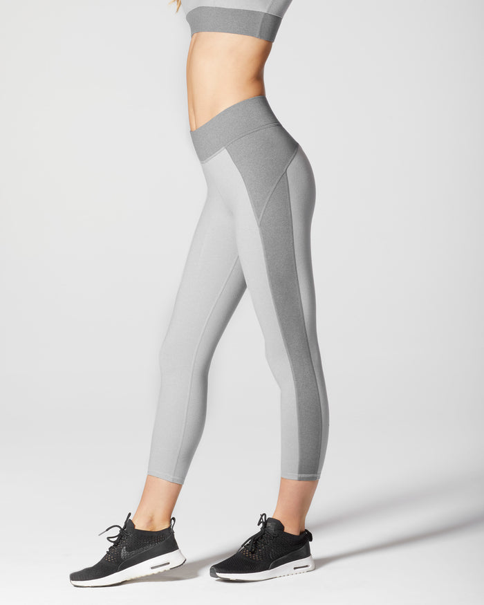 Lotus Crop Legging - Moonstone Grey