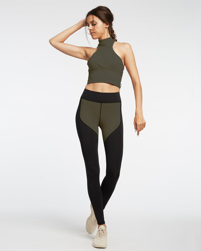 Extension Crop Top - Olive