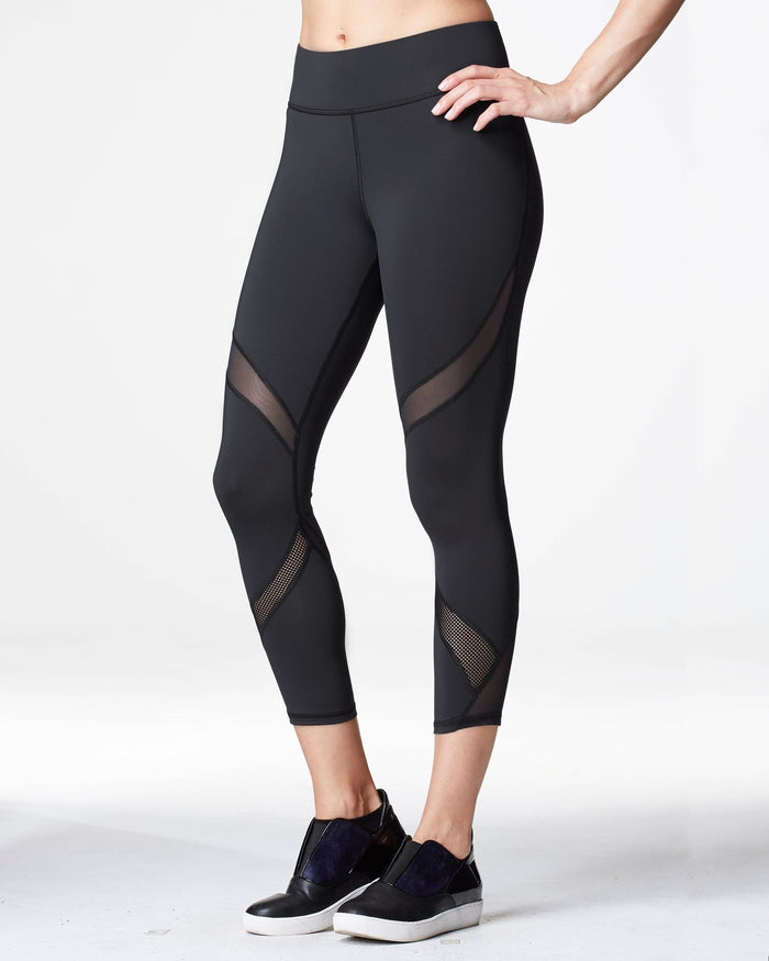 Hydra Crop Legging - Black
