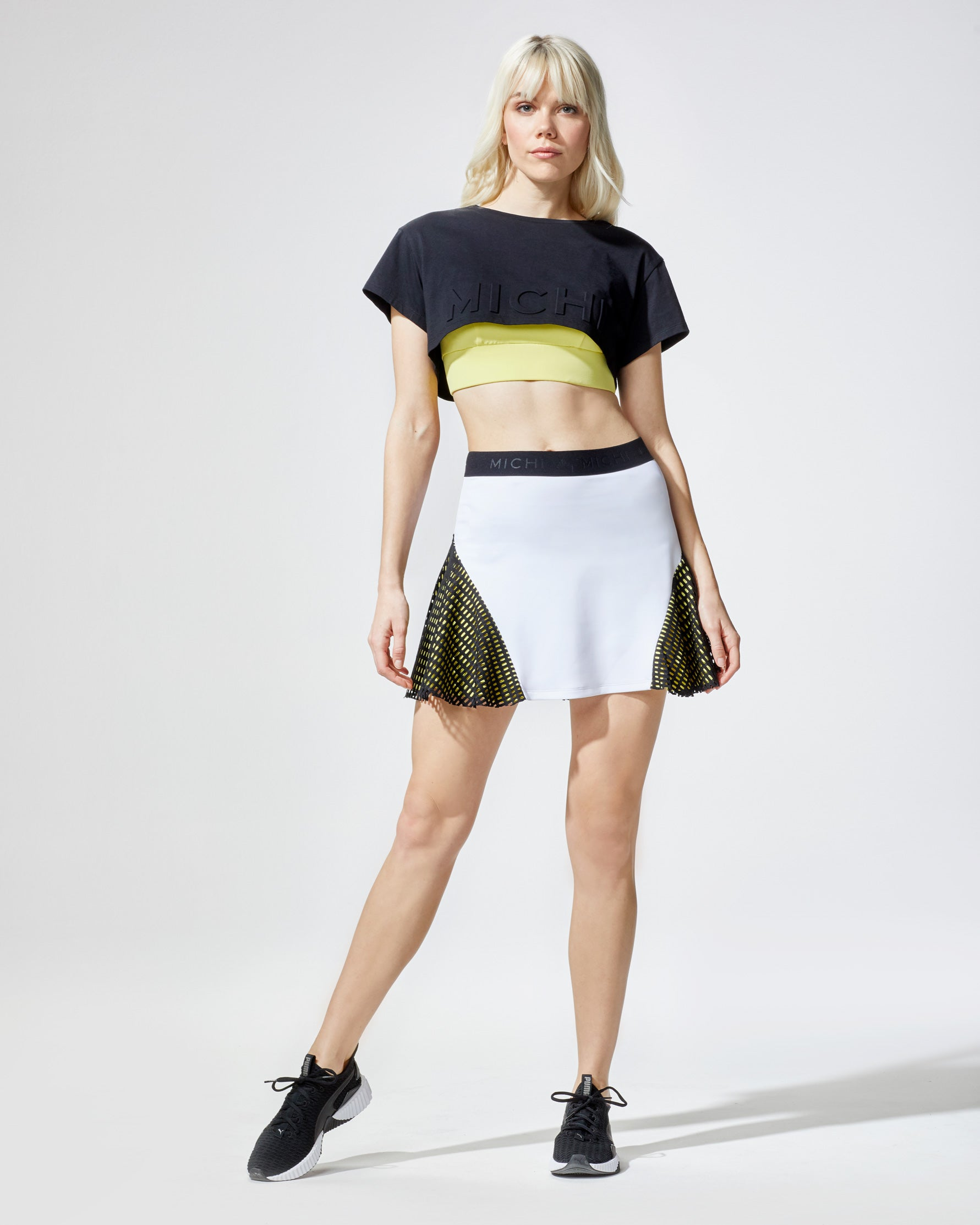match-skirt-white-yellow-black