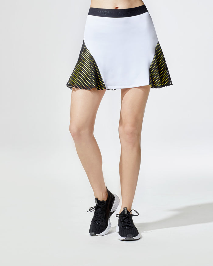 Match Skirt - White/Yellow/Black