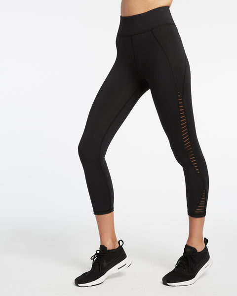 Medusa Stripe Crop Legging - Black