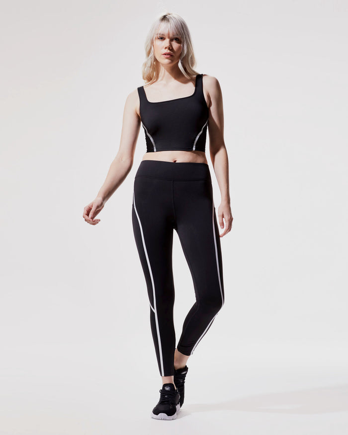 Cadence Crop Top - Black/White