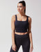 Cadence Ribbed Crop Top - Black