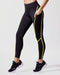 Linear Legging - Black/Acid Yellow