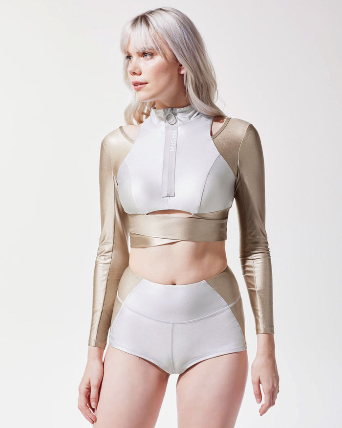 Freedive Crop Top - Golden/Platinum