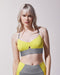 Medusa Longline Bra - Platinum/Acid Yellow