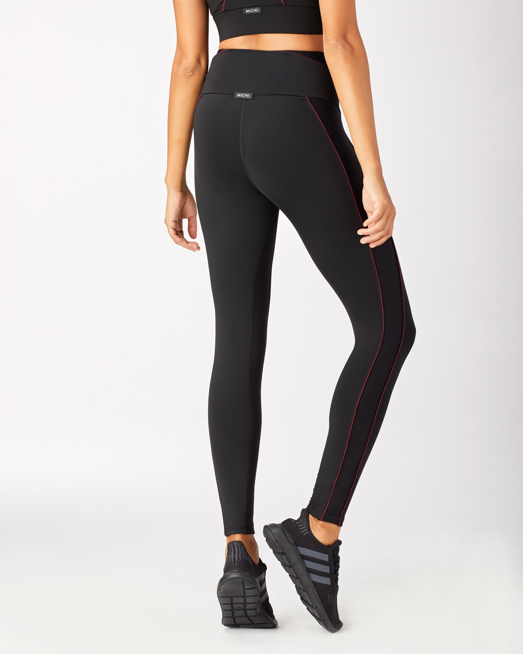 Midnight High Waisted Legging - Black/Wine