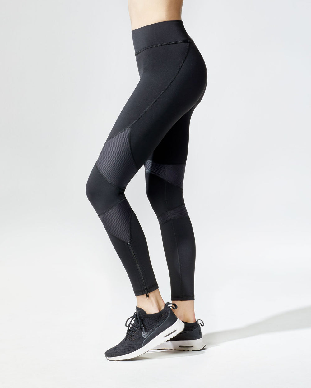 Moto Zip Legging - Black