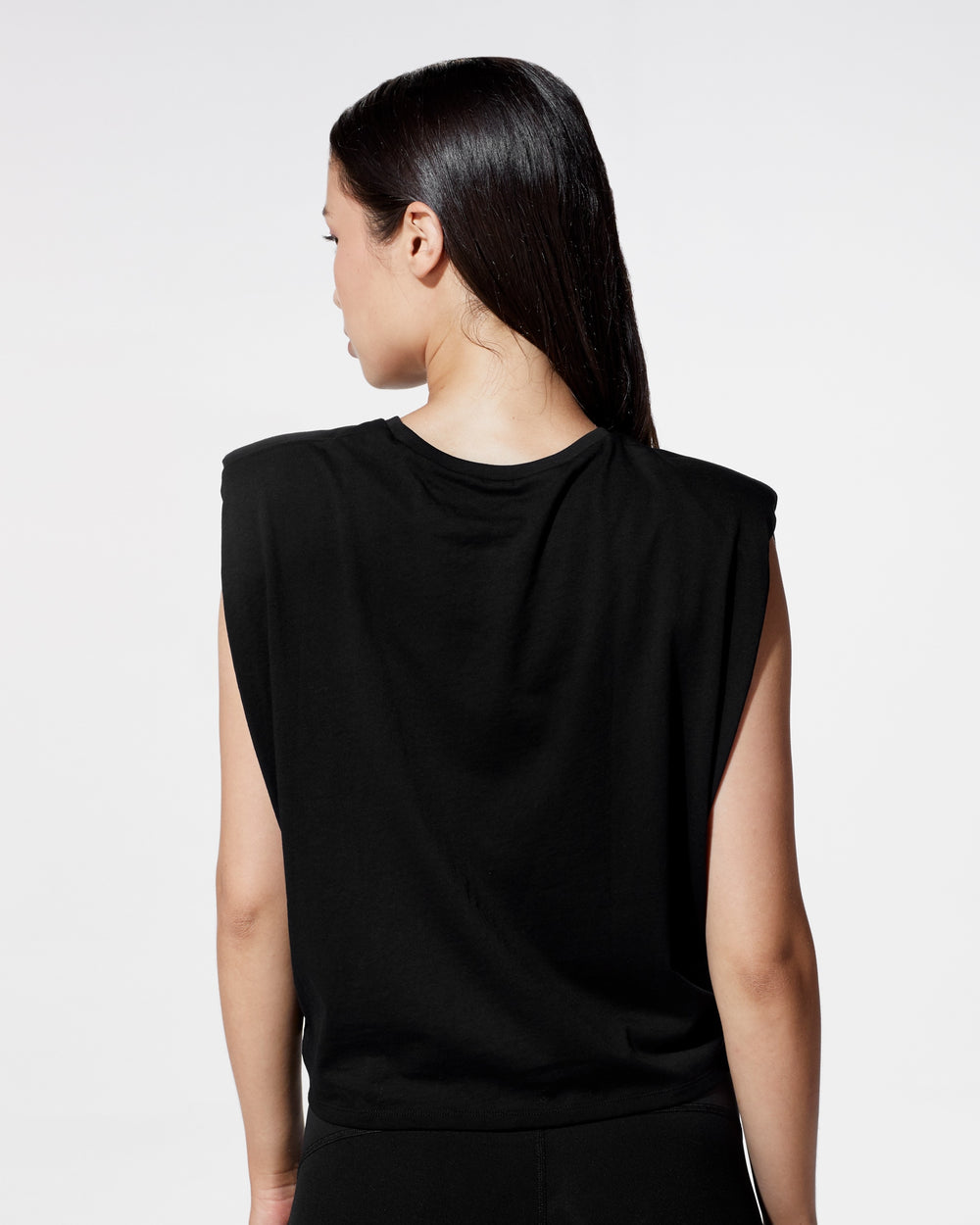 Muscle Tie Top - Black