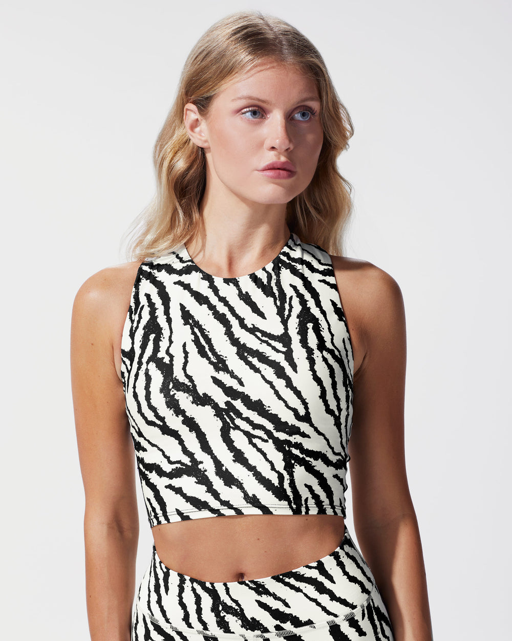 Mystic Tiger Print Bustier - Ivory Marble