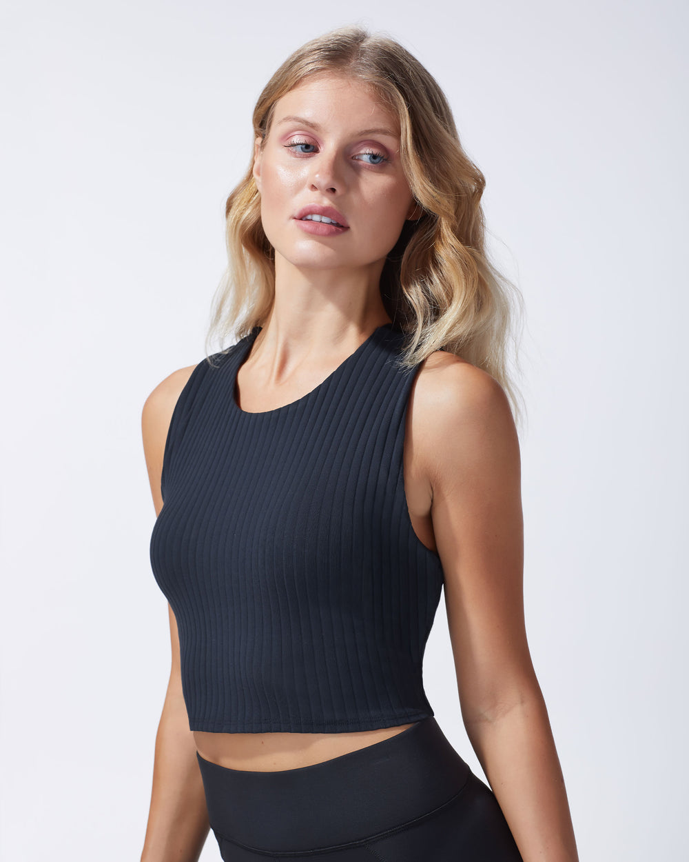 Mystic Ribbed Bustier - Black