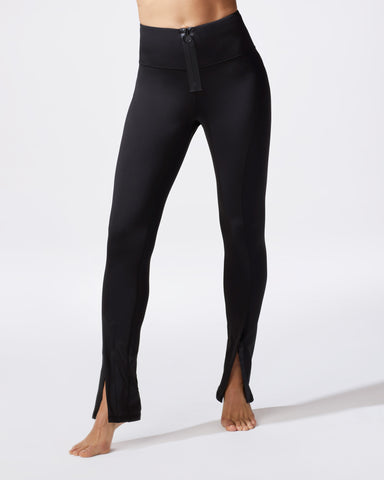 Nocturnal High Waisted Zip Legging - Black