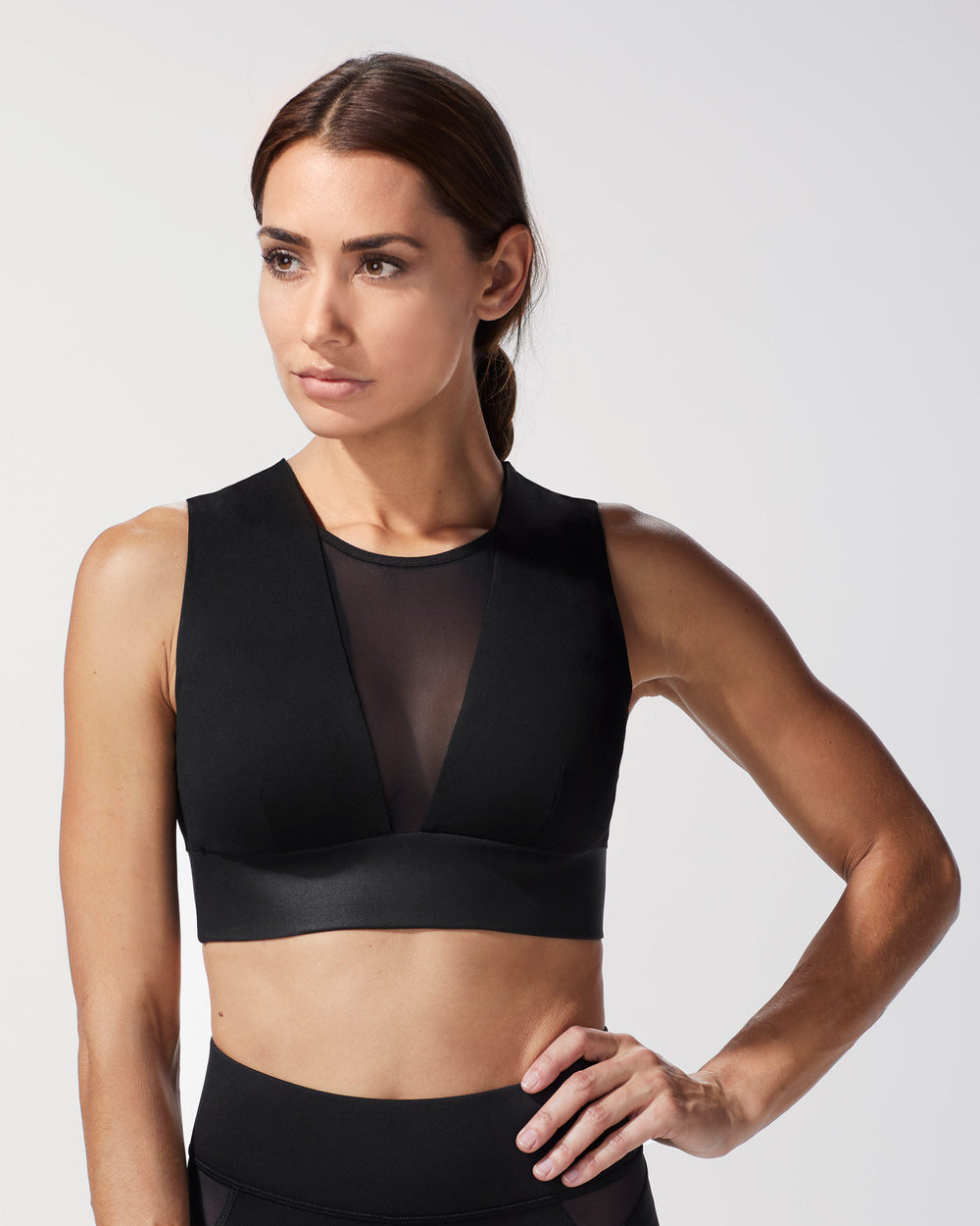 Polaris Longline Bra - Liquid Black