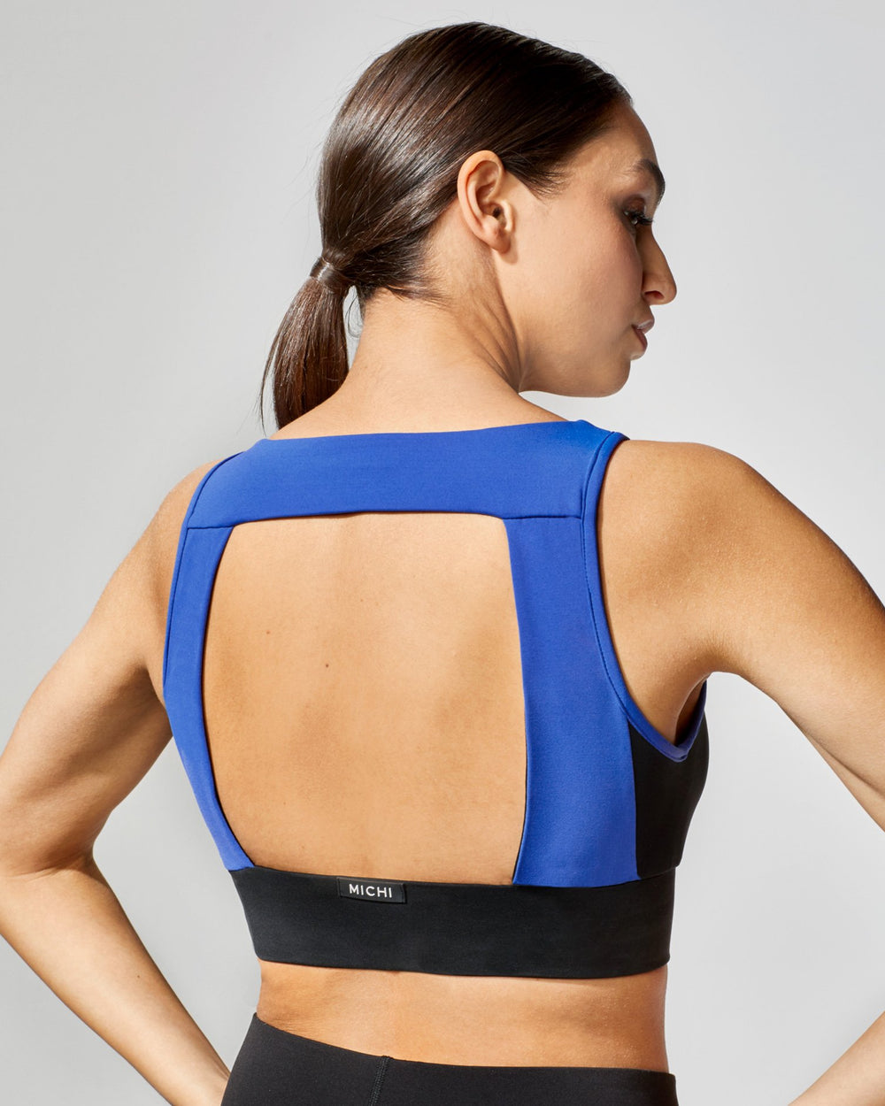 Power Longline Bra - Royal Blue/Black