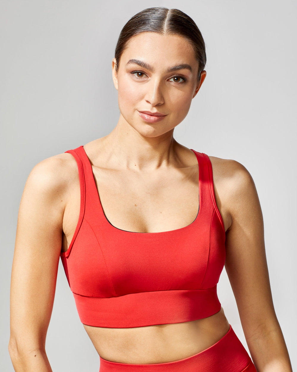 Power Longline Bra - Fire Red