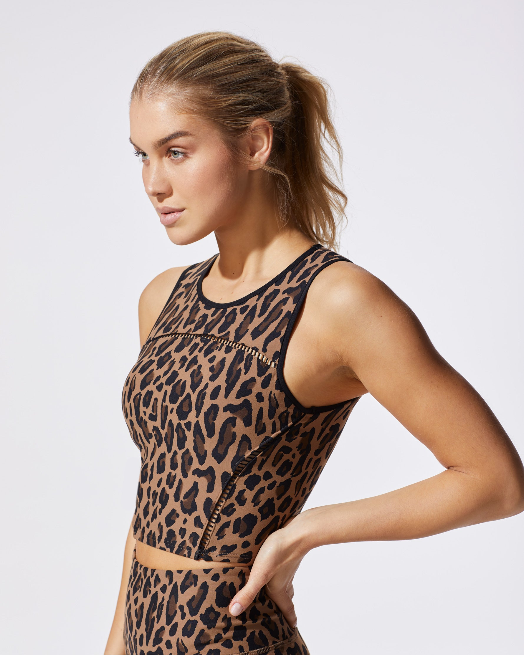 Primal Crop Top - Leopard