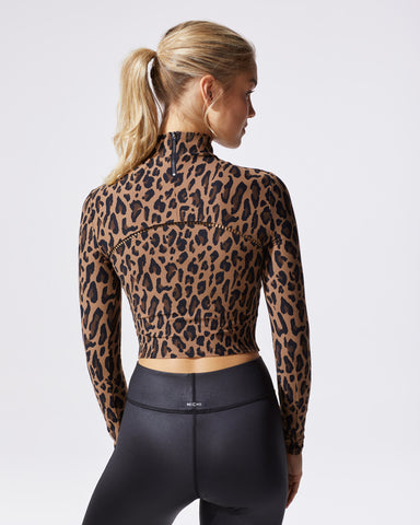 Primal Leopard Print Long Sleeve -Brown