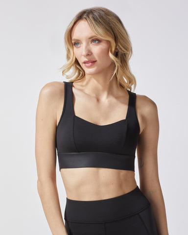 Rebel Longline Bra - Black
