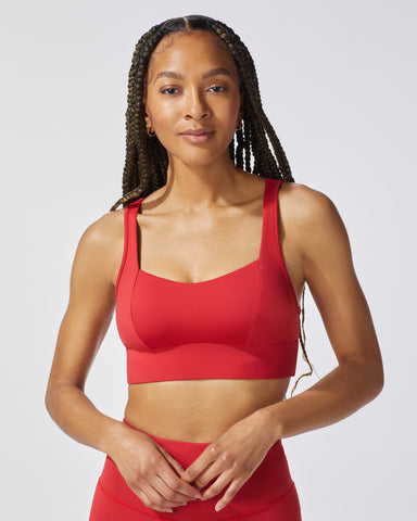 Rebel Longline Bra - Fire Red