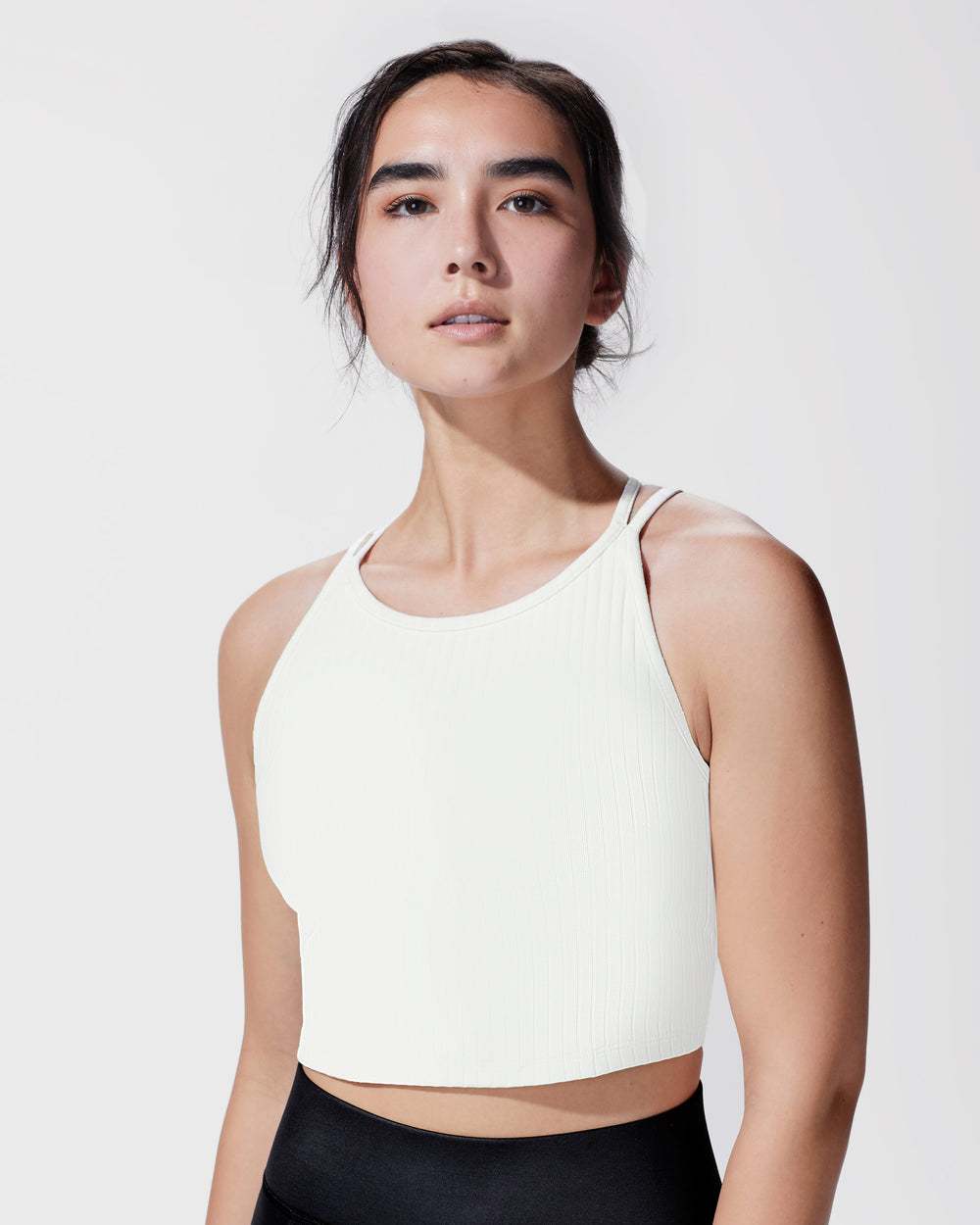 Reflex Ribbed Crop Top - Ivory