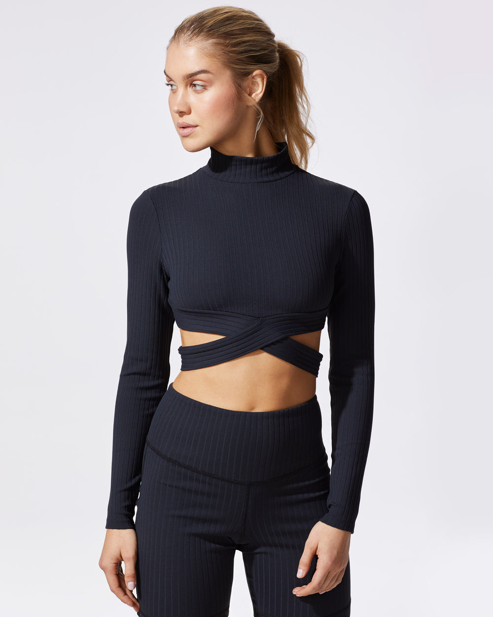 Reflex Ribbed Top - Black