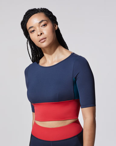 Riva Crop Top - Blue Flame