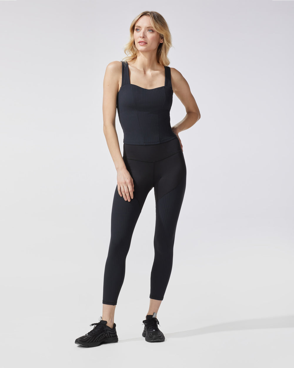Rocket Ribbed Legging - Black