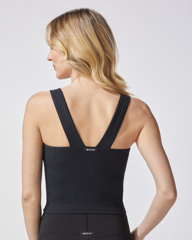 Rocket Ribbed Tank - Black