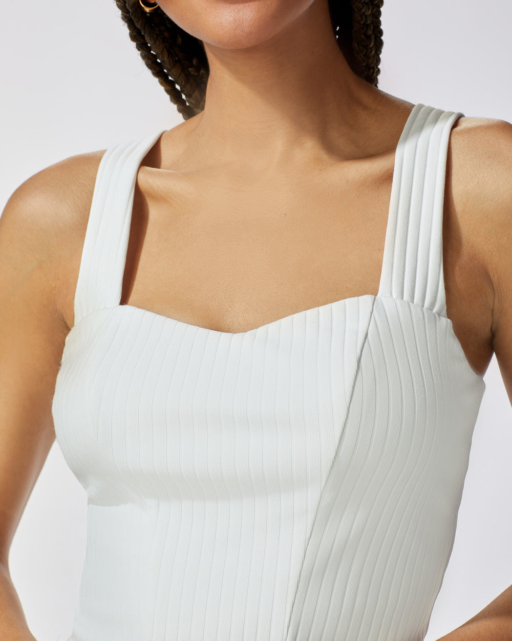 Rocket Ribbed Tank - Ivory