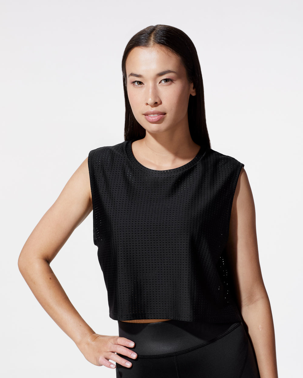 Sail Crop Top - Black