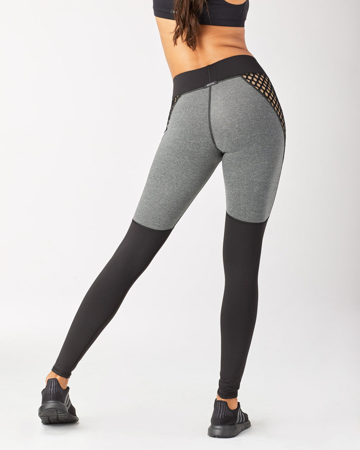 Shadow Legging - Heather Grey/Nude