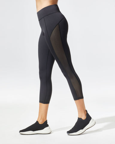 Stardust Crop Legging - Black