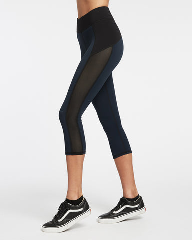 Stardust Crop Legging - Deep Sea Navy